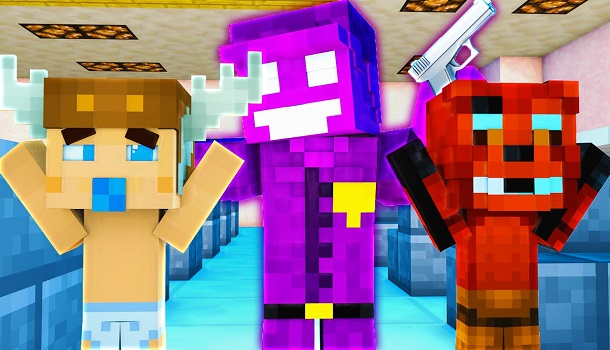 Minecraft School : FIVE NIGHTS AT FREDDY'S - PURPLE GUY ESCAPED?! (Minecraft Roleplay) Night 22