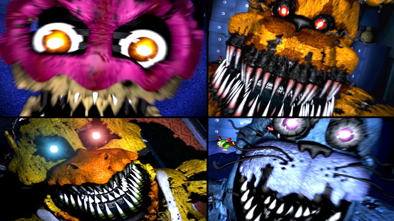 Five Nights at Freddy's 1 All Jumpscares