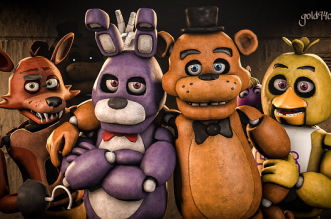 Five Nights at Freddy's 4 PowerPoint Edition - By SanuRobot.