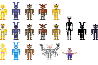 Five Nights at Freddy's 8-bit 2 Halloween Edition