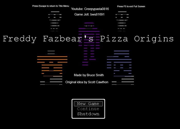 Freddy Fazbear's Pizza Origins [Fan Game]