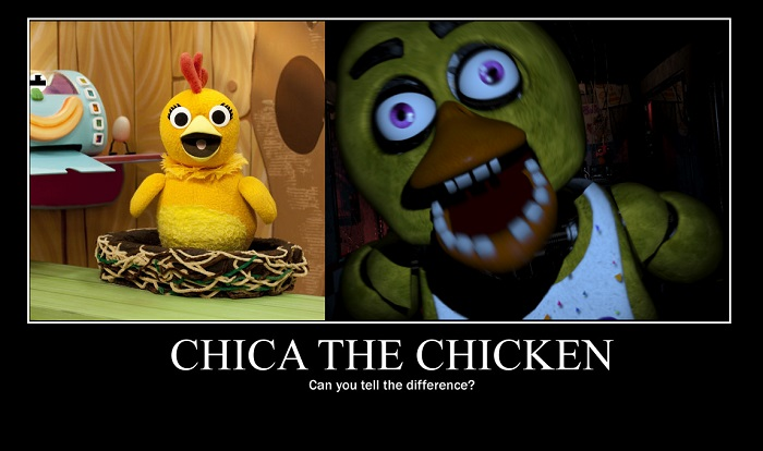 One Night at chica the chicken's the fan game V1